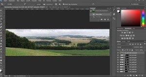 Screenshot Photoshop nach dem Zusammenfügen der Einzelaufnahmen